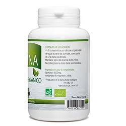 Spirulina Organica 300 tabletas 500 mg