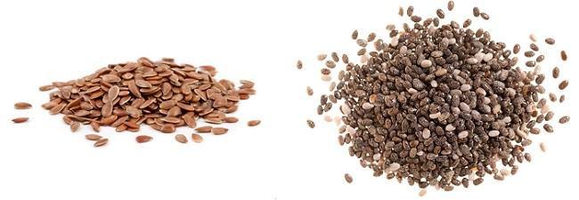 super alimentos semillas de lino y chia