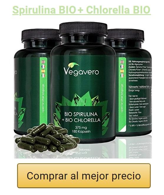 banner vegavero spirulina y chlorella