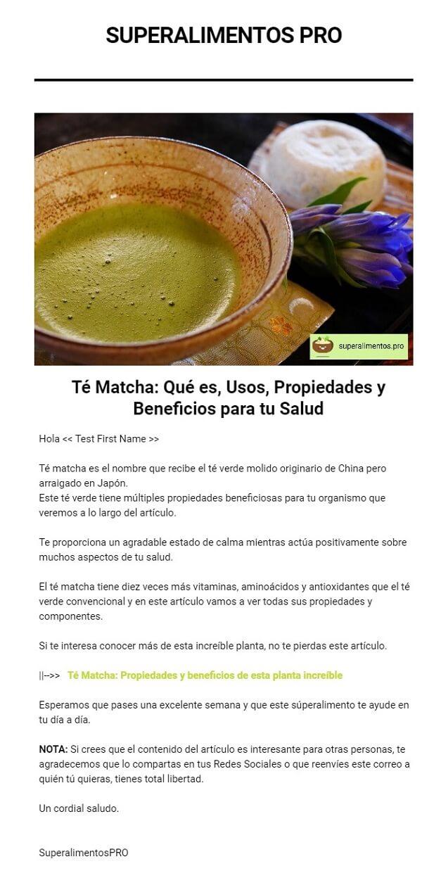 newsletter Superalimentos Pro