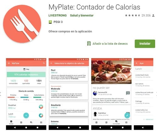 MyPlate Livestrong app